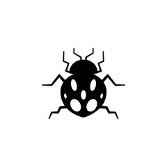 ladybug icon. Elements of insect icon. Premium quality graphic design. Signs and symbol collection icon for websites, web design, mobile app, info graphics