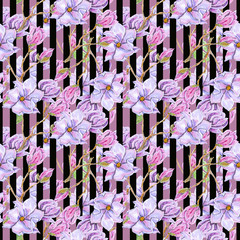 Seamless background, floral wallpaper. Delicate flowers, the basis for design.
