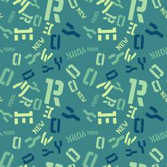 New York creative pattern. Digital design for print, fabric, fashion or presentation.