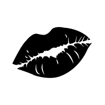 silhouette sexy woman lips style icon