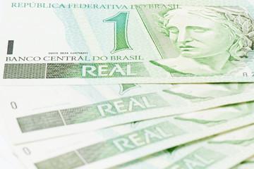 Detail of brazilian 1 BRL currency