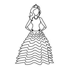Princess costume cartoon vector illustration graphic design