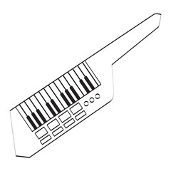 Isolated keytar icon. Musical instrument