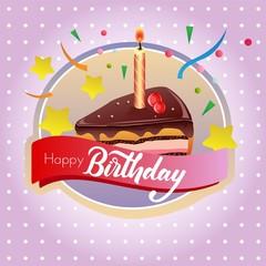 birthday cake chocolate tart label
