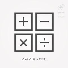 Line icon calculator