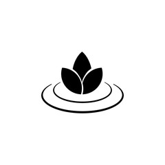 lotus icon. Element of SPA icon. Premium quality graphic design. Signs and symbols collection icon for websites, web design, mobile app