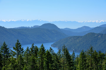 Malahat Lookout Point Vancouver Island Canada , Canada Highway 1, British Columbia, Canada Wall mural