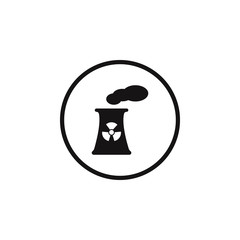 sign dangerous nuclear power plant icon. Element of danger signs icon. Premium quality graphic design icon. Signs and symbols collection icon for websites, web design, mobile app