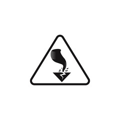 sign dangerous hurricane icon. Element of danger signs icon. Premium quality graphic design icon. Signs and symbols collection icon for websites, web design, mobile app