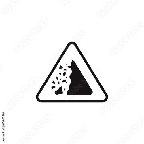 Sign Dangerous Crashing Stones Icon Element Of Danger Signs Icon