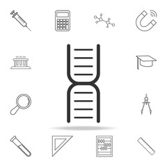 Gene DNA Icon. Detailed set of science and learning outline icons. Premium quality graphic design. One of the collection icons for websites, web design, mobile app