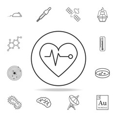 palpitation icon. Detailed set of science and learning outline icons. Premium quality graphic design. One of the collection icons for websites, web design, mobile app