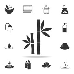 Bamboo tree icon. Detailed set of SPA icons. Premium quality graphic design. One of the collection icons for websites, web design, mobile app
