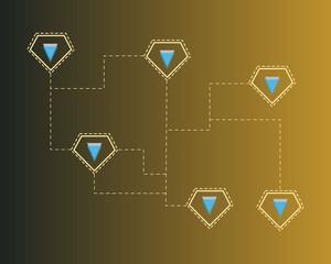 Blockchain verge technology concept background collection