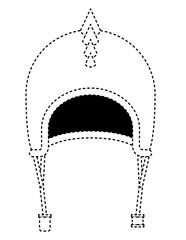 classic motorcyclist helmet with thorns vector illustration design
