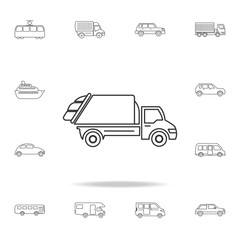garbage truck icon. Detailed set of transport outline icons. Premium quality graphic design icon. One of the collection icons for websites, web design, mobile app