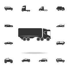 lorry with a trailer icon. Detailed set of transport icons. Premium quality graphic design. One of the collection icons for websites, web design, mobile app
