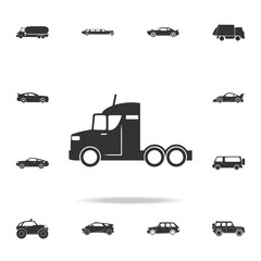 Truck without a trailer icon. Detailed set of transport icons. Premium quality graphic design. One of the collection icons for websites, web design, mobile app