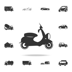 Motor scooter icon. Detailed set of transport icons. Premium quality graphic design. One of the collection icons for websites, web design, mobile app