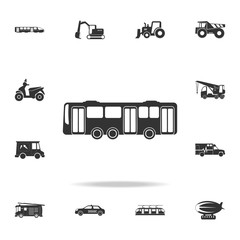Bus Icon. Detailed set of transport icons. Premium quality graphic design. One of the collection icons for websites, web design, mobile app
