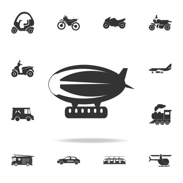 Airship zeppelin icon. Detailed set of transport icons. Premium quality graphic design. One of the collection icons for websites, web design, mobile app