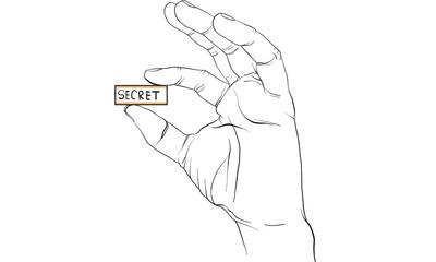 finger signal, hand signal  vector