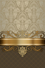 Wall Mural - Vintage luxury background with decorative patterns.