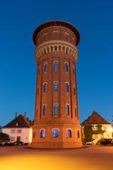 Wasserturm in Speyer zur Blauen Stunde