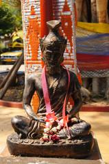 Hermit statue at Wat Sri Rong Muang, Lampang,Thailand.