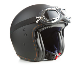 Photo sur Toile Scooter Open face motorcycle helmet.