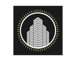 white building icon skyscraper cityscape architecture construction image vector