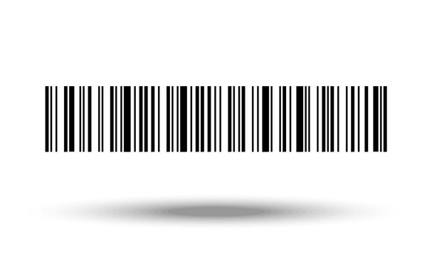 Barcode on white background