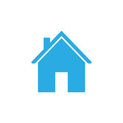 Home icon. Vector illustration. Flat design.