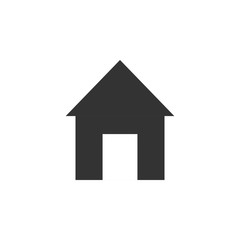 Home icon. Vector illustration. Flat design.
