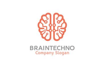 Creative Pinky Brain Technology Logo Design Illustration