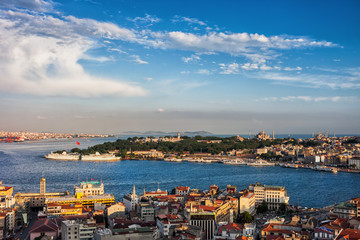 City Of Istanbul Sunset Cityscape