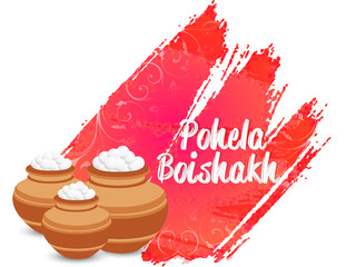 nice and beautiful abstract for Pohela Boishakh with nice and creative design illustration in a background.