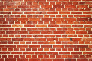 Old red brick wall background or wallpaper