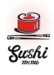 Sushi menu design