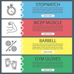 Fitness web banner templates set