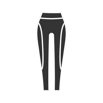 Women's sports pants glyph icon