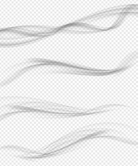Modern Soft Smoke Gradient Waves Collection. Vector Illustration
