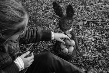 Ostern Foto schwarz und weiß