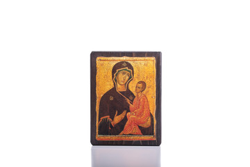 Orthodox icon isolated on a white background