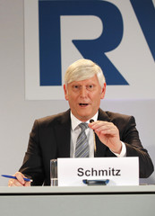 RWE AG CEO Schmitz attends the joint news conference in Essen