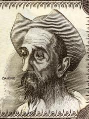 Don Quixote portrait from Spanish money