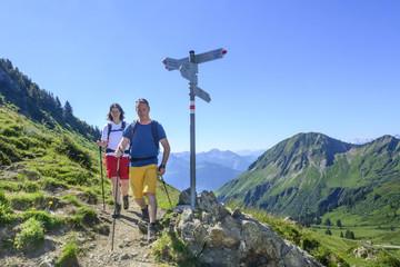Wandern in Vorarlberg nahe Damüls