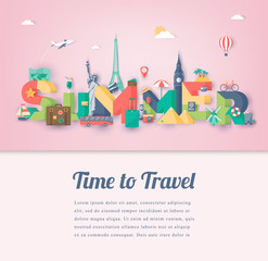 Summer holidays. Travel and Tourism concept. Summer vacation. Vector