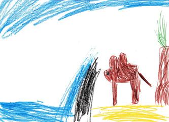 Das Kamel vor der Wasserwand