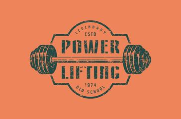 Emblem of the powerlifting club
